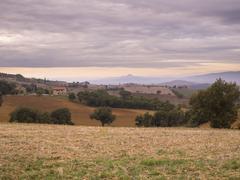 Tuscan valley Stock Photos