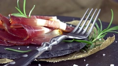 Portion of Sliced Ham (not loopable) Stock Footage