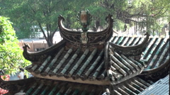 Roof the A-Ma Temple, The Oldest Temple In Macau-Dan Stock Footage