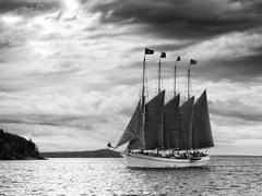 Large sailboat Stock Photos