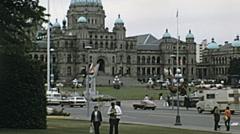 Canada 1973: Victoria city center Stock Footage