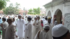 Eid ul Fitr : a celebration of Muslim faith in India Stock Footage