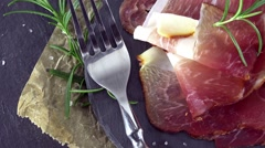 Ham (Sliced; not loopable) Stock Footage