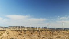 4k Time lapse of wind energy, renewable electric energy source. Stock Footage