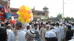 Bakrid : a celebration of Muslim faith in India Stock Footage