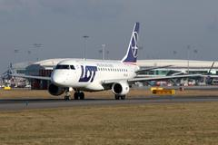 LOT - Polish Airlines Stock Photos