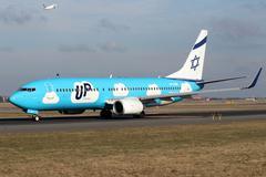 Up - El Al Israel Airlines Stock Photos