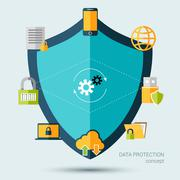 Data Protection Concept Stock Illustration