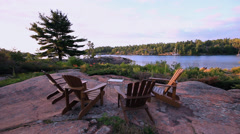 Outdoor Cottage Life Stock Footage