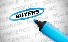 Word buyers Stock Photos