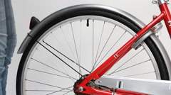 Bicycle lock anti-theft key - stock footage