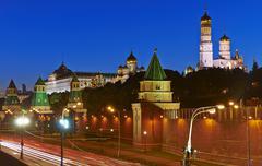 Moscow Kremlim and embankment. Stock Photos