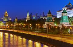 Moscow Kremlim and embankment. - stock photo