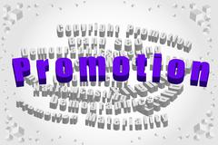 promotion word with word cloud - stock photo