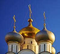 Novodevichi convent on sunset. - stock photo