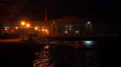 A warehouse at night. Stock Footage