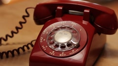 Woman Frantically Dials 911 - Rotary Phone Stock Footage