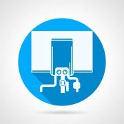 Round vector icon for water boiler Stock Illustration