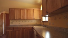 Empty House -Kitchen Stock Footage