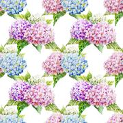 Hydrangea pattern - stock illustration