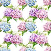 Hydrangea pattern Stock Illustration