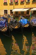 Gondolas in Venice. Stock Photos