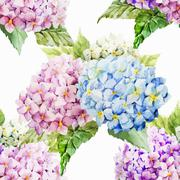 Stock Illustration of Hydrangea pattern