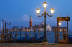 Venice at dusk. Stock Photos