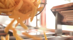 Kipping fries Stock Footage