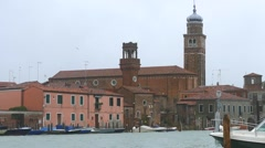 Murano Island in the Venetian lagoon. Stock Footage