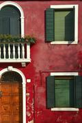 Multicolored houses on Burano island. Stock Photos