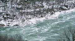 Whirlpool  NiagaraFalls Winter 26svv Stock Footage