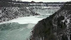 Whirlpool  NiagaraFalls Winter 22svv Stock Footage