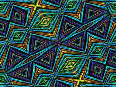 Colorful Tribal Geometric Pattern - stock illustration