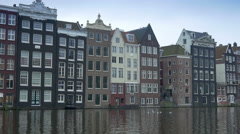 Amsterdam with historic canal houses 4K Stock Footage