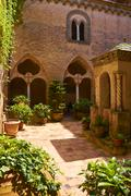 Ancient villa in Ravello. - stock photo
