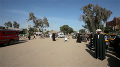 BUSY ROAD FROM LUXOR, NAGAA EL-SHAIKH ABOU AZOUZ, EGYPT Stock Footage