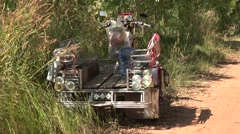 Tuk in Thailand with no driver Stock Footage