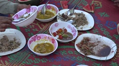 Food from  thailand Stock Footage