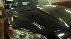 reflections on the car, clean cars shine,shine on metal, glare - stock footage