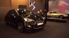 Stock Video Footage of Citroen DS3 compact hatchback car