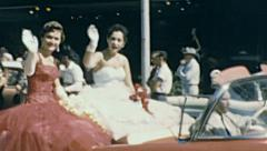 Tampa 1959: Misses at Gasparilla parade of Pirates - stock footage