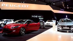 Peugeot RCZ on the Peugeot stand Stock Footage
