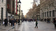 Stock Video Footage of Barcelona La Rambla
