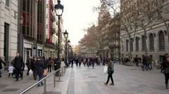 Barcelona La Rambla Stock Footage