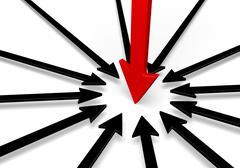 On Target Leadership - stock illustration