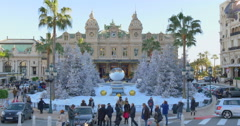 MONACO: the Monte Carlo Casino is a gambling and entertainment complex Stock Footage