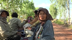 Old women from Thailand in isaan province Stock Footage