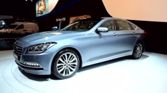 Hyundai Genesis luxury sedan Stock Footage