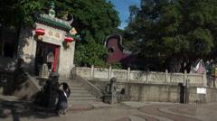 Timelaps Macau, A-Ma Temple, Ma Kok Miu from the door-Dan Stock Footage
